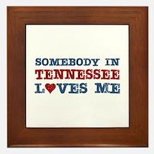 Somebody in Tennessee Loves Me Framed Tile