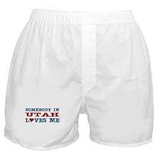 Somebody In Utah Loves Me Boxer Shorts