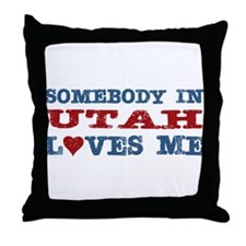 Somebody In Utah Loves Me Throw Pillow
