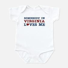 Somebody in Virginia Loves Me Infant Bodysuit
