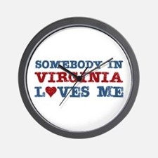 Somebody in Virginia Loves Me Wall Clock