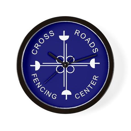 Cross Roads Fencing Center 10 Inch Wall Clock