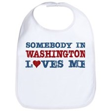 Somebody in Washington Loves Me Bib