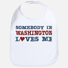 Somebody in Washington Loves Me Bib