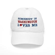 Somebody in Washington Loves Me Baseball Cap