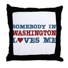 Somebody in Washington Loves Me Throw Pillow