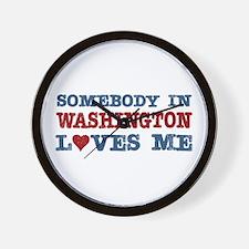 Somebody in Washington Loves Me Wall Clock