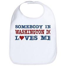 Somebody in Washington DC Loves Me Bib