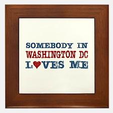 Somebody in Washington DC Loves Me Framed Tile
