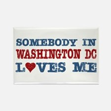 Somebody in Washington DC Loves Me Rectangle Magne