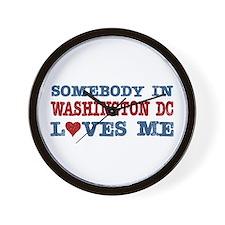 Somebody in Washington DC Loves Me Wall Clock