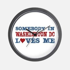 Somebody in Washington DC Loves Me Wall Clock