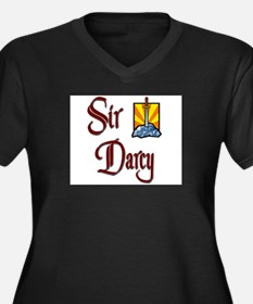 Sir Darcy Women's Plus Size V-Neck Dark T-Shirt