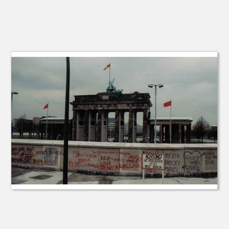 Berlin wall postcards berlin wall post card design template for Product design berlin
