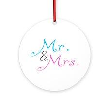 Mr. & Mrs. Ornament (Round)