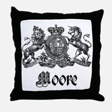 Moore Vintage Crest Family Name Throw Pillow