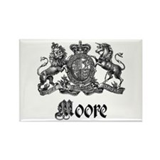 Moore Vintage Crest Family Name Rectangle Magnet