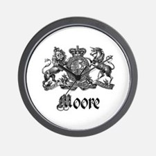 Moore Vintage Crest Family Name Wall Clock