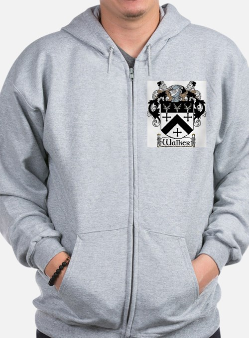 Walker Coat of Arms Zip Hoodie