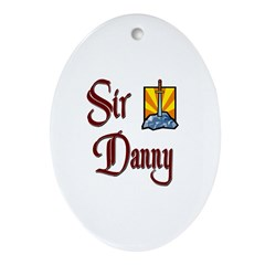 Sir Danny Oval Ornament