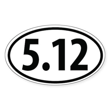 5.12 YDS rock climbing Oval Sticker