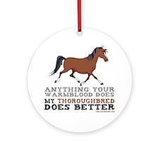 Thoroughbred Horse Ornament (Round)