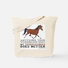 Thoroughbred Horse Tote Bag
