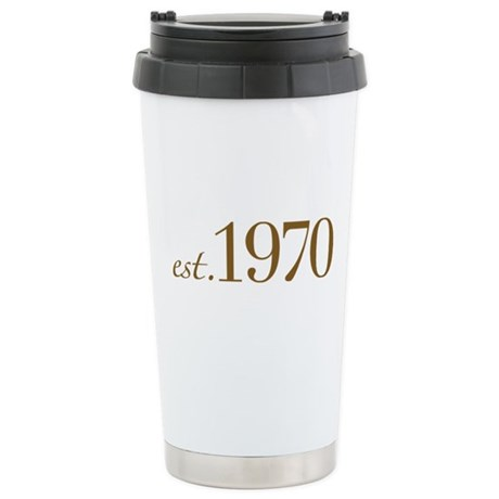 Est. 1970 (Birthday) Stainless Steel Travel Mug