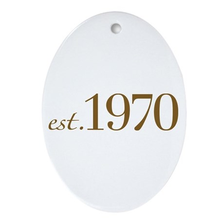 Est. 1970 (Birthday) Oval Ornament