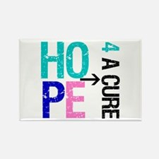 Hope Cure Thyroid Cancer Rectangle Magnet