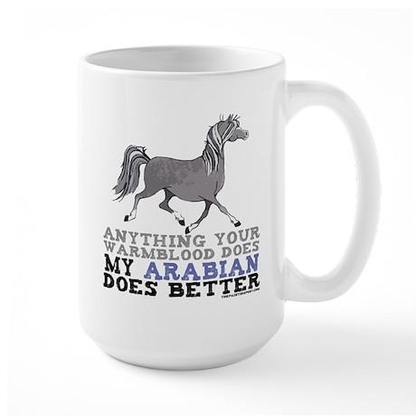 Arabian Horse Large Mug
