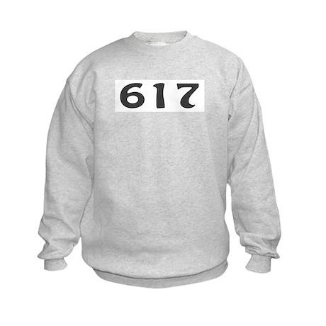 617 Area Code Kids Sweatshirt