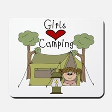 Girls Love Camping Mousepad