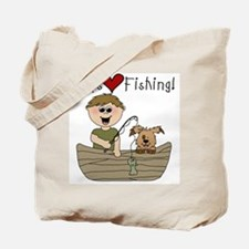 Boys Love Fishing Tote Bag