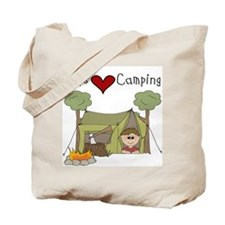 Boys Love Camping Tote Bag