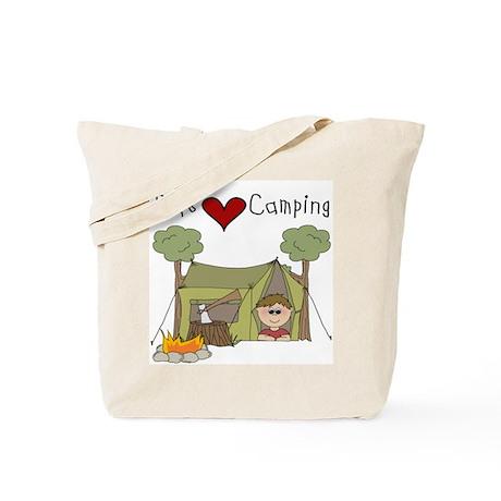 Boys Love Camping Tote Bag