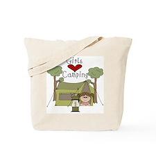 Girls Love Camping Tote Bag