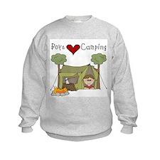 Boys Love Camping Sweatshirt