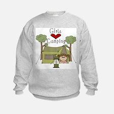 Girls Love Camping Sweatshirt
