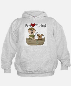 Boys Love Fishing Hoodie