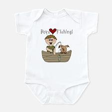 Boys Love Fishing Infant Bodysuit