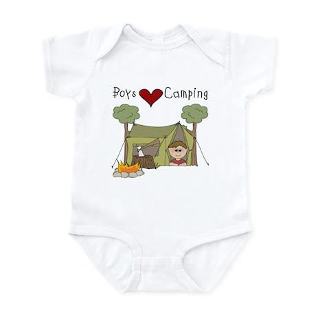 Boys Love Camping Infant Bodysuit