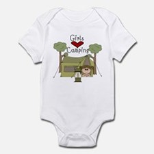 Girls Love Camping Infant Bodysuit