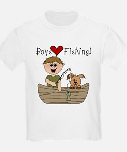 Boys Love Fishing T-Shirt