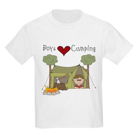 Boys Love Camping Kids Light T-Shirt