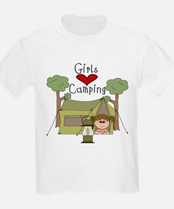 Girls Love Camping T-Shirt