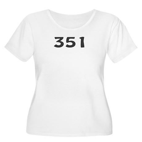 351 Area Code Women's Plus Size Scoop Neck T-Shirt
