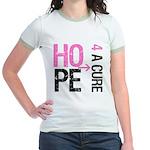 Hope Cure Breast Cancer Jr. Ringer T-Shirt