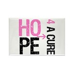 Hope Cure Breast Cancer Rectangle Magnet (10 pack)