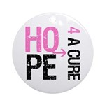 Hope Cure Breast Cancer Ornament (Round)